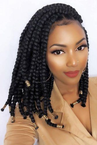 Side Swept Medium Braids #crochetbraids #braids