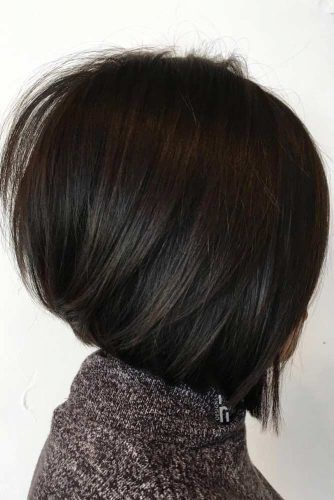 A line Straight Bob #faceshapes #squareface #bobhaircut