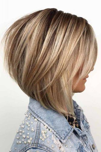 Inverted Layered Bob #bob #layeredhair