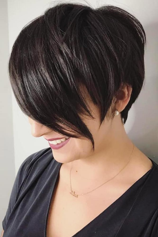 Long Pixie With Side Swept Bang #pixie #shorthair» width=«667» height=«1000