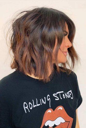 Textured Messy Lob #faceshapes #ovalface