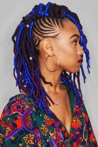 Crochet Faux Locs & Cornrows #braids #fauxlocs #cornrowbraids
