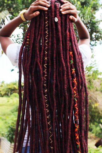 Long Faux Locs Marley Hair #fauxlocs #longhair #redhair