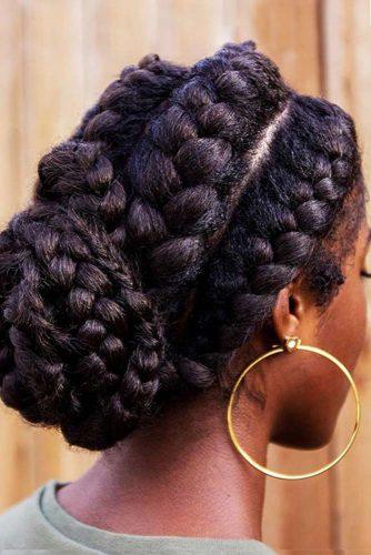 Magnificent Goddess Braids Updo #goddessbraids #braids #updo
