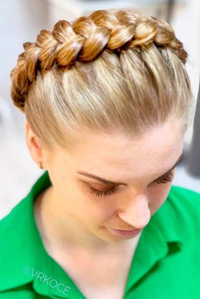 Greek Goddess Crown Braid
