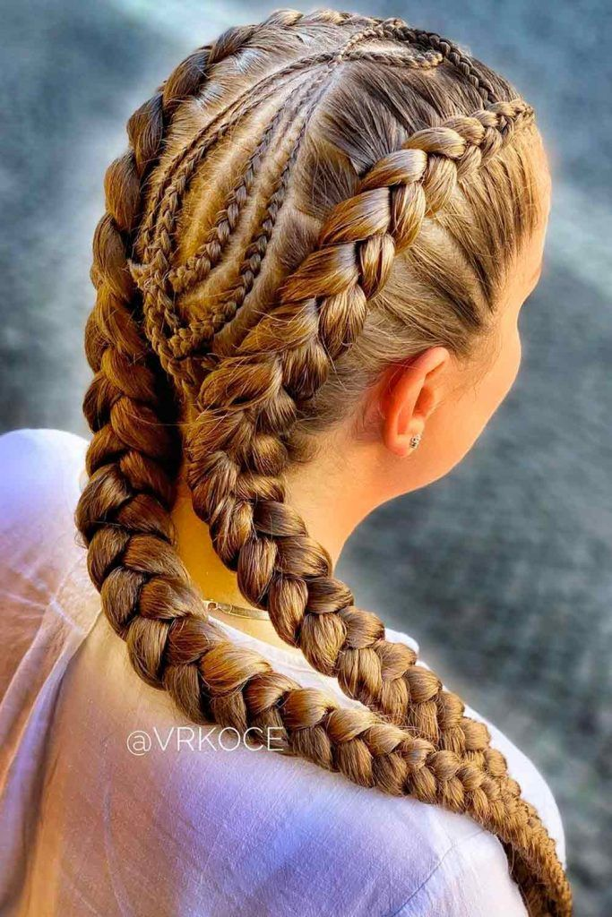 Fancy Double French Goddess Braids