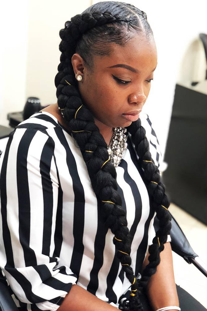Double Butterfly Braid With A Twist #braids #goddessbraid