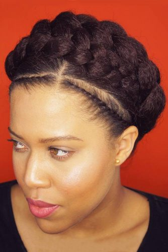 Greek Goddess Crown Braid #braids #updo