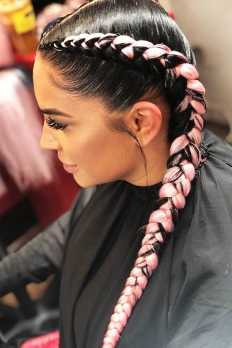 Double Dutch Goddess Braids #braids #goddessbraid