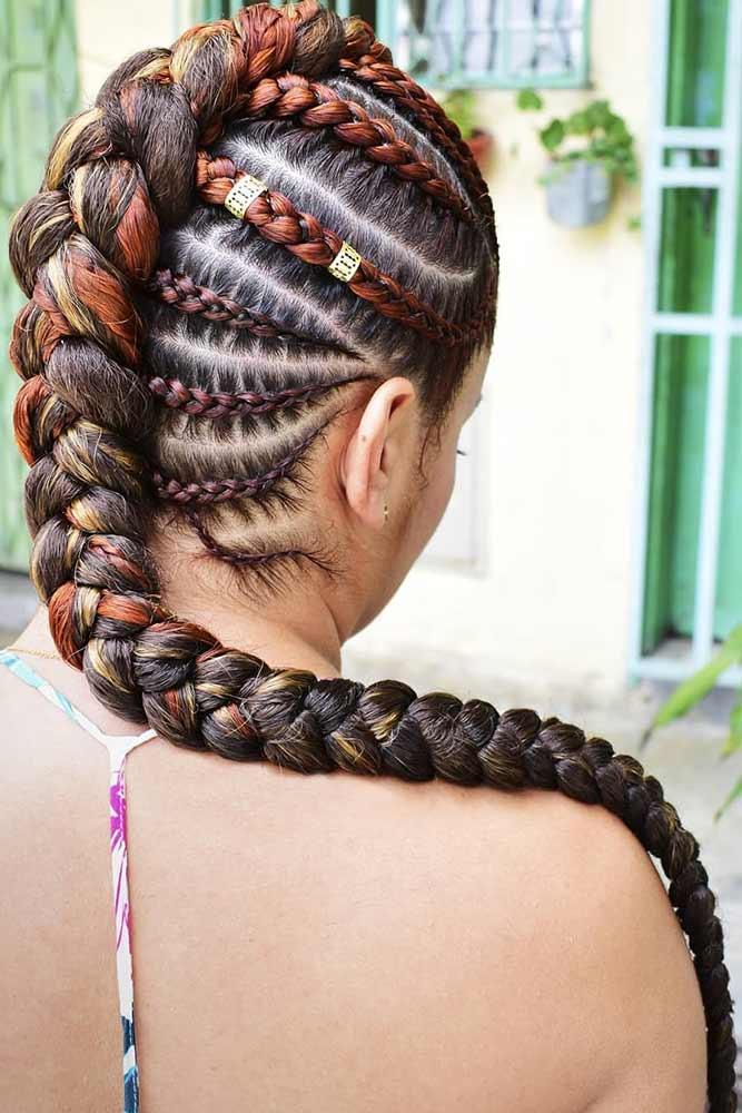 Mohawk Goddess Braid #braids #mohawk