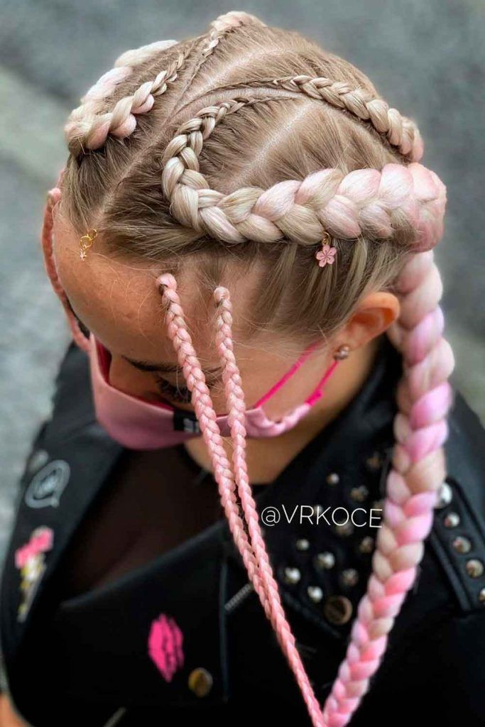 Creative Side Goddess Braids
