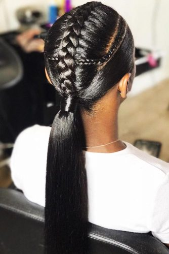 Goddess Sleek Pony #braids #goddessbraid #ponytail