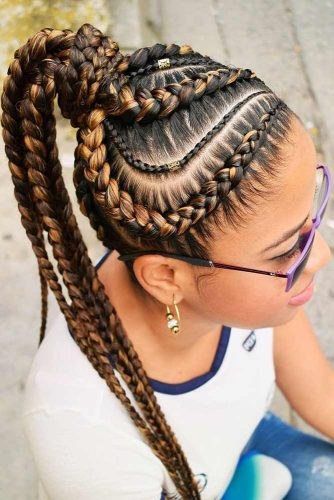 Dutch Goddess Braids Into Ponytail #braids #ponytail
