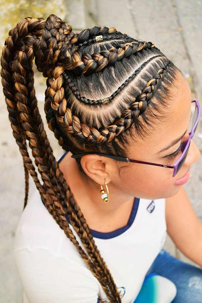 Dutch Goddess Braids Into Ponytail #braids #ponytail