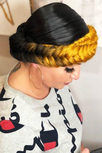Halo Style Updo #goddessbraids #braids