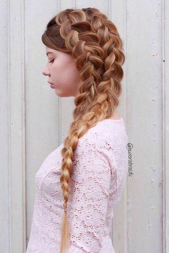 Side Double Dutch Braid #howtodutchbraid #dutchbraid #braids #hairstyles