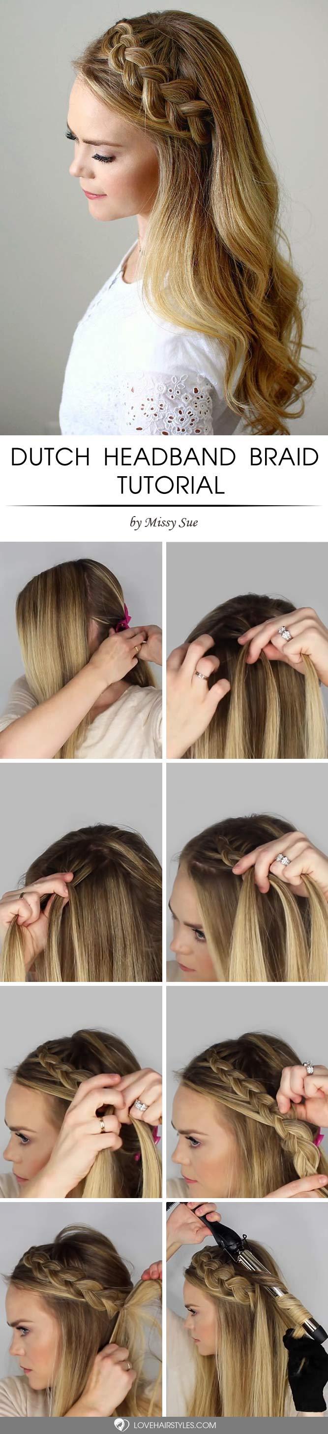 Angel Like Dutch Headband Braid Tutorial #howtodutchbraid #dutchbraid #tutorials #braids #hairstyles