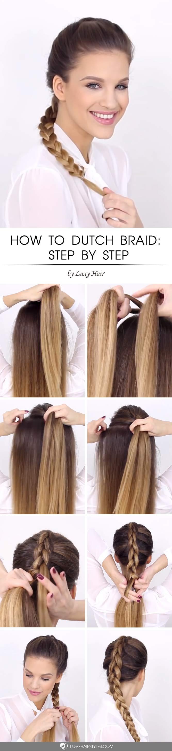 How To Dutch Braid For Beginners #howtodutchbraid #dutchbraid #tutorials #braids #hairstyles