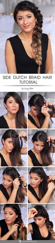 Gorgeous Side Dutch Braid Hair Tutorial #howtodutchbraid #dutchbraid #tutorials #braids #hairstyles