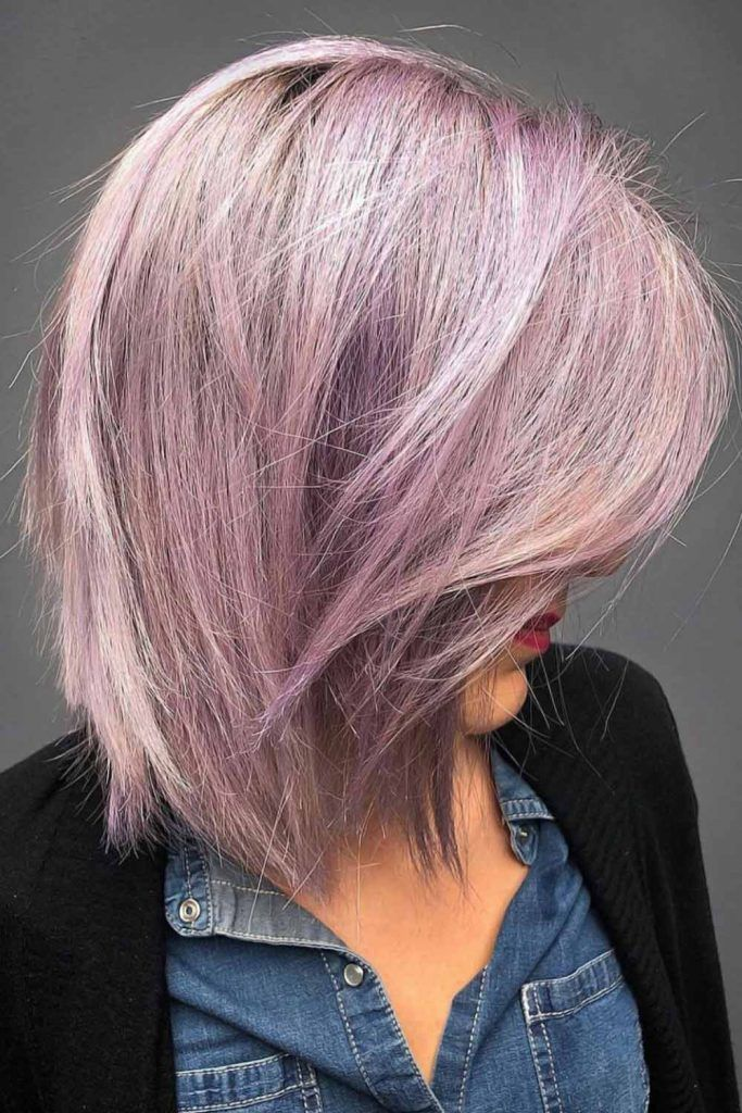 Marvelous Pastel Lavender Hair Bob #lavenderhair