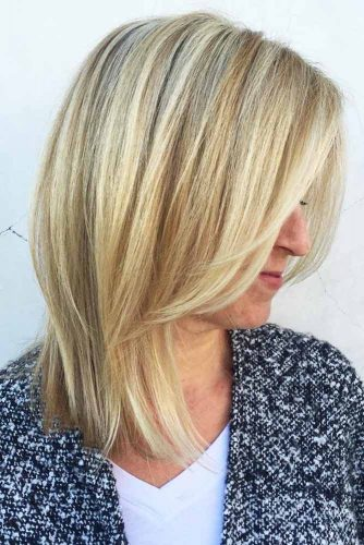 Long Bob With Lovely Layers #bob #mediumhair #layeredhair