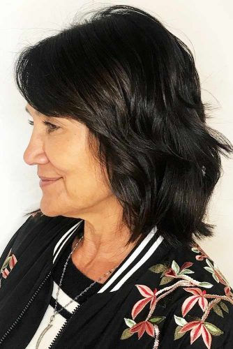 Face-Framing Layered Cut #mediumhair #wavyhair #layeredhair #bob
