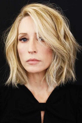 30 Ideas Of Wearing Medium Length Haircuts For Women Over 50