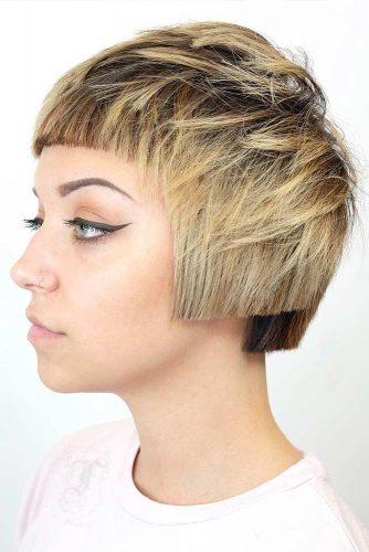 Short Architectural Bob #pageboyhaircut #shorthaircut #haircuts #bangs #straighthair