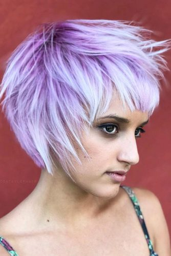 Messy Haircut With Soft Velvet Ombre #pageboyhaircut #shorthaircut #haircuts #bangs #straighthair