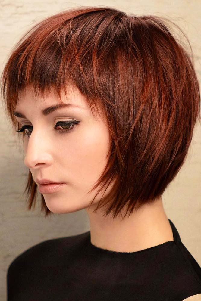 Chic Pageboy With Short Bangs #pageboyhaircut #shorthaircut #haircuts #bangs #straighthair