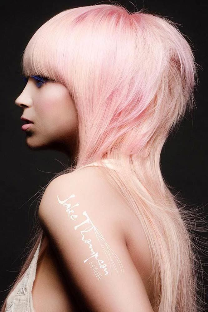 Long Pale Pink Pageboy #pageboyhaircut #haircuts