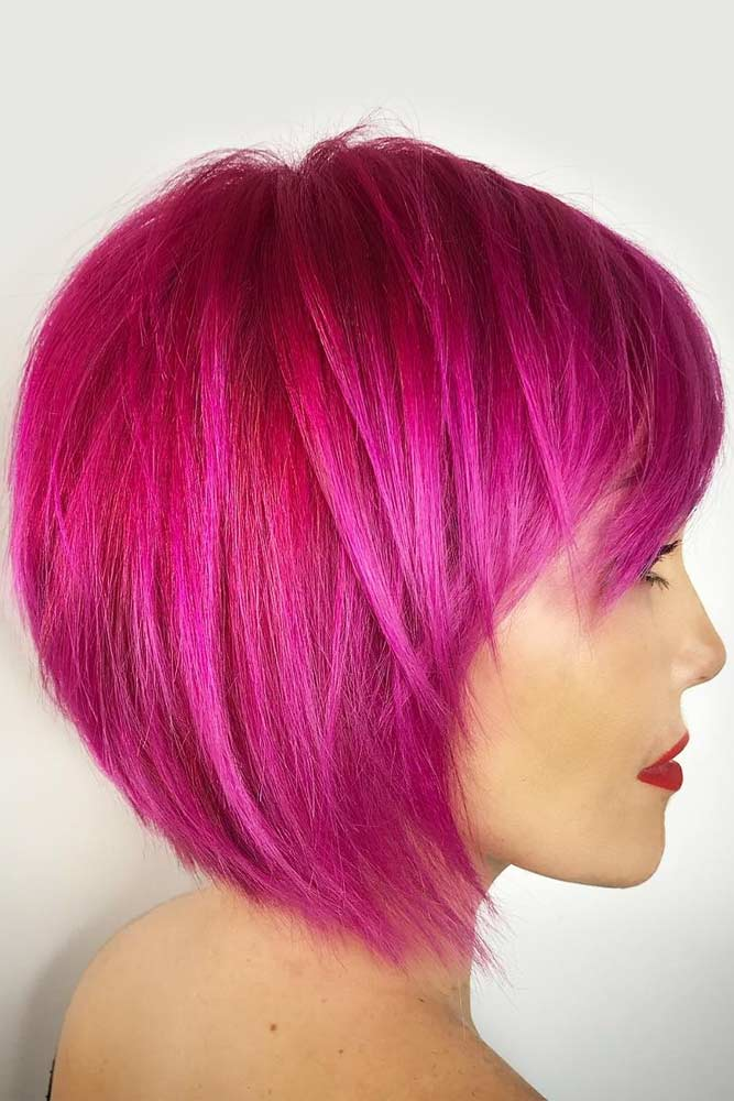 Pink Textured Bob #pageboyhaircut #shorthaircut #haircuts