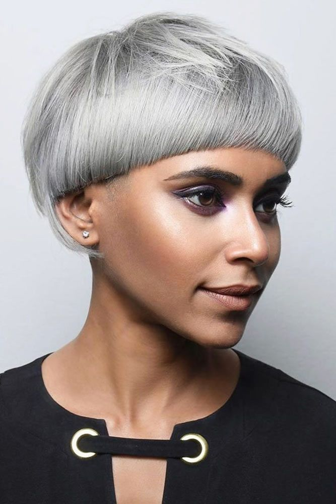 Short Silver Pageboy Haircut  #pageboyhaircut #haircuts