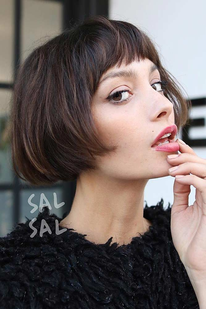 Charming Vintage French Bob #pageboyhaircut #shorthaircut #haircuts #bangs #straighthair