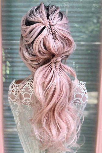Diamond Infinity Braid Into Pony #ponytail #ponytailhairstyles #hairstyles #longhair