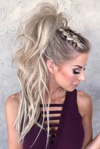 Dutch Braids To A High Pony #ponytail #ponytailhairstyles #hairstyles #longhair #blondehair