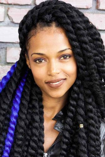 Senegalese Twist With Colorful Kanekalon Hair #braids #longhair