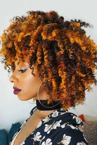 Layered Curly Bob With Bangs #shorthairstyles #naturalhair #hairstyles #bobhaircut #layeredhair