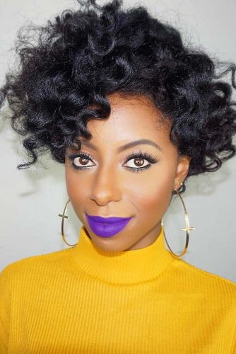 Funky And Long Curly Pixie #shorthairstyles #naturalhair #hairstyles #pixiecut #curlyhair