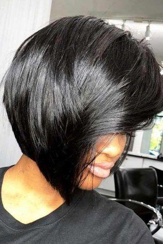 Inverted Straight Bob #shorthairstyles #naturalhair #hairstyles #bobhaircut #straighthair