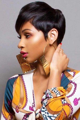 Polished Straight Pixie #shorthairstyles #naturalhair #hairstyles #pixiecut #straighthair