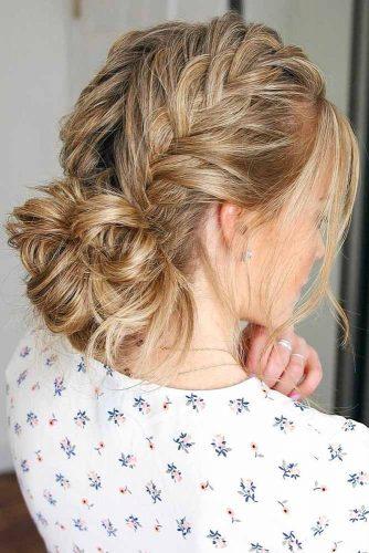 Charming Double Braided Updo For Thin Hair #updo #braids #bun #longhair