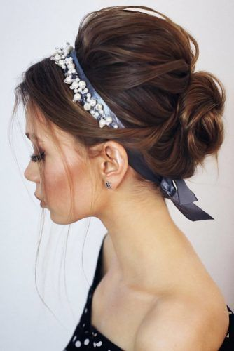 Voluminous Twisted Updo With Headband #longhair #updo
