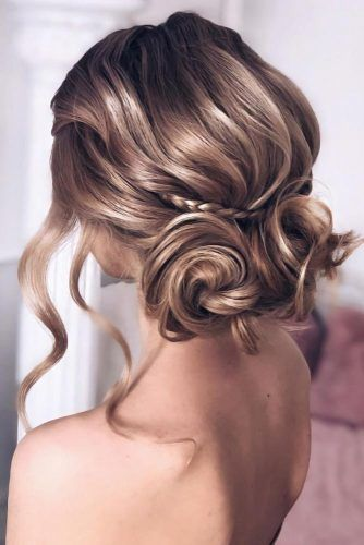 Low Double Buns With Small Braid #longhair #updo