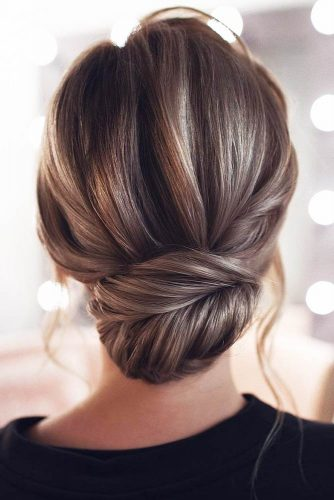 Voluminous Low Bun Hairstyle #updo #longhair