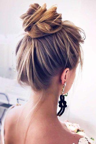 Exquisite High Bun For Long Hair #updo #longhair #bun