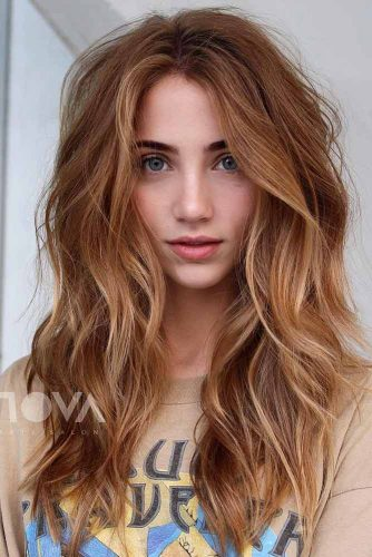 Middle Part Layered Hairstyle #hairstyles #faceshapes #longhairstyles #layeredhair