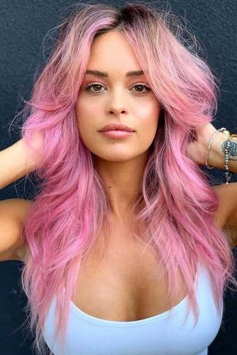 Rose Long Shaggy Hair #hairstyles #faceshapes