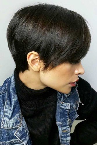 Side Swept Pixie #hairstyles #faceshapes