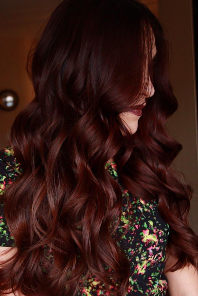 Chocolate Cherry Brown #brownhair #brunette